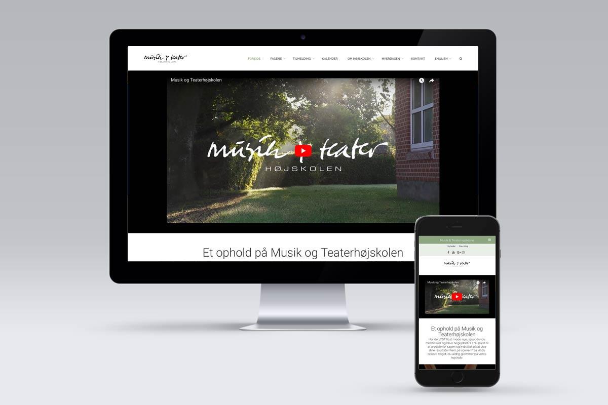 Musik&Teater hjemmeside